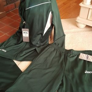 Asics jacket and pants NWT